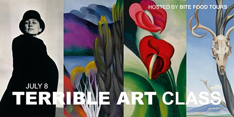 July TERRIBLE ART class - GEORGIA O'KEEFE Flowers & Lush Landscapes tickets