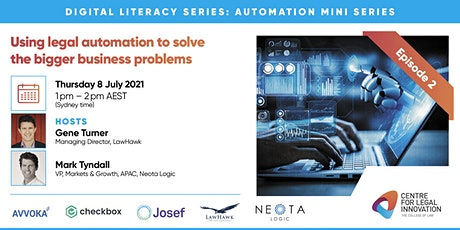 Automation Mini Series- Using legal automation to solve business problems tickets