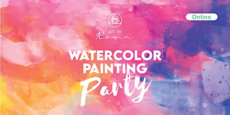 Online Watercolour Painting Party tickets
