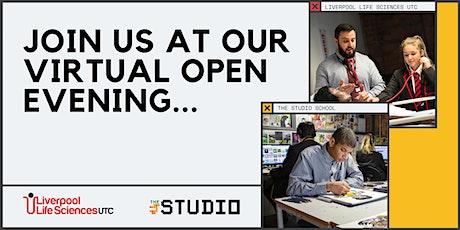 Liverpool Life Sciences UTC & The Studio virtual open evening - 12 August tickets