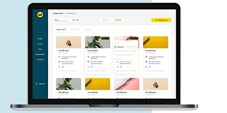 Webinar Organisatie-platform Welcome app tickets