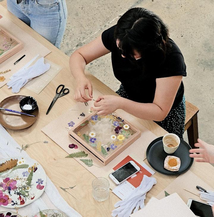 Flower Press Framing Workshop   Eat & Create at 140 image