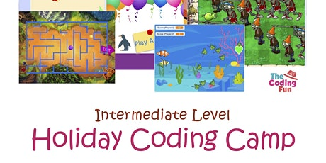 Scratch Programming -  Holiday Camp - Intermediate Level Tickets