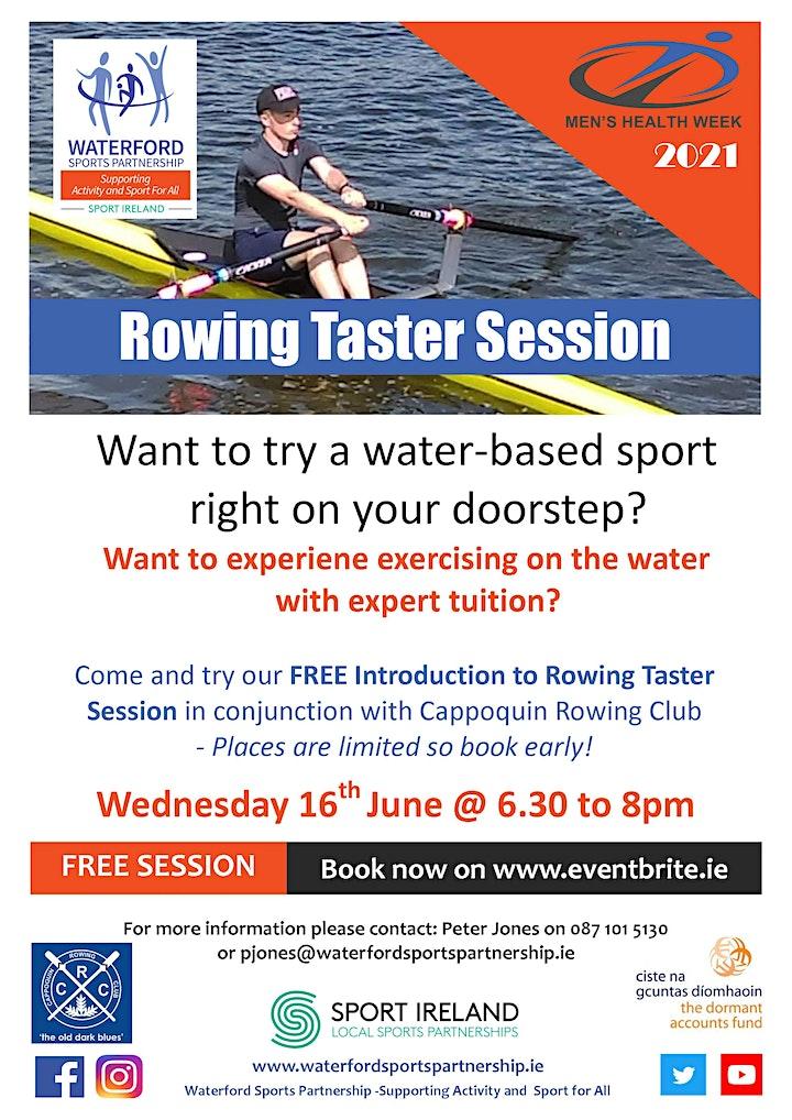 Men's Health Week - Rowing Taster Session 160621 image
