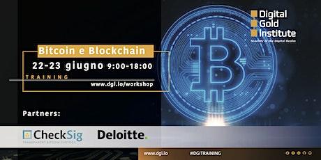 Bitcoin e Blockchain: training biglietti