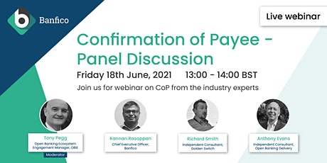 Confirmation of Payee - Panel Discussion tickets