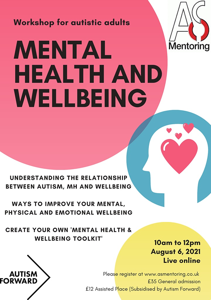 Mental Health and Wellbeing for adults with ASC Workshop image