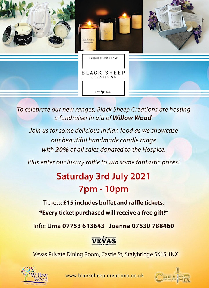 Black Sheep Creations  Charity Evening in aid of Willow Wood Hospice image