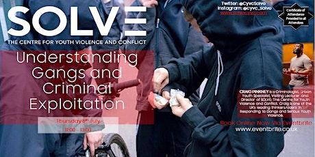 Understanding Gangs and Criminal Exploitation tickets