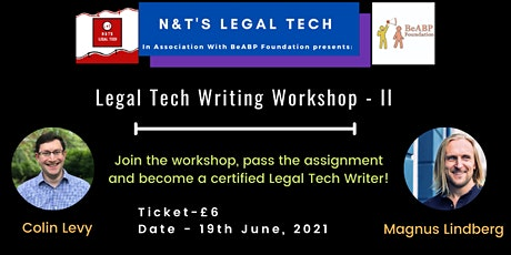 Legal Tech Writing Workshop - II tickets