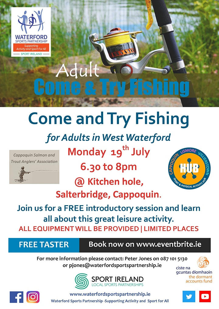 Come & Try Fishing for Adults in West Waterford image