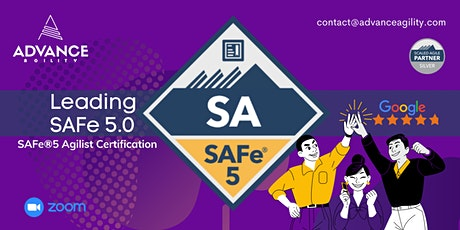 Leading SAFe 5.0 (Online/Zoom) Aug 30-31, Mon-Tue, Singapore Time (SGT) tickets