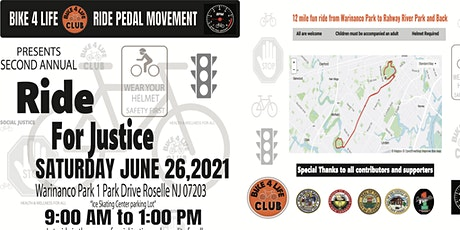 RIDE FOR JUSTICE 2 tickets