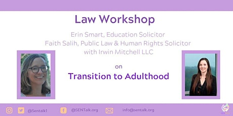 Law Workshop: SEND Transition to Adulthood tickets