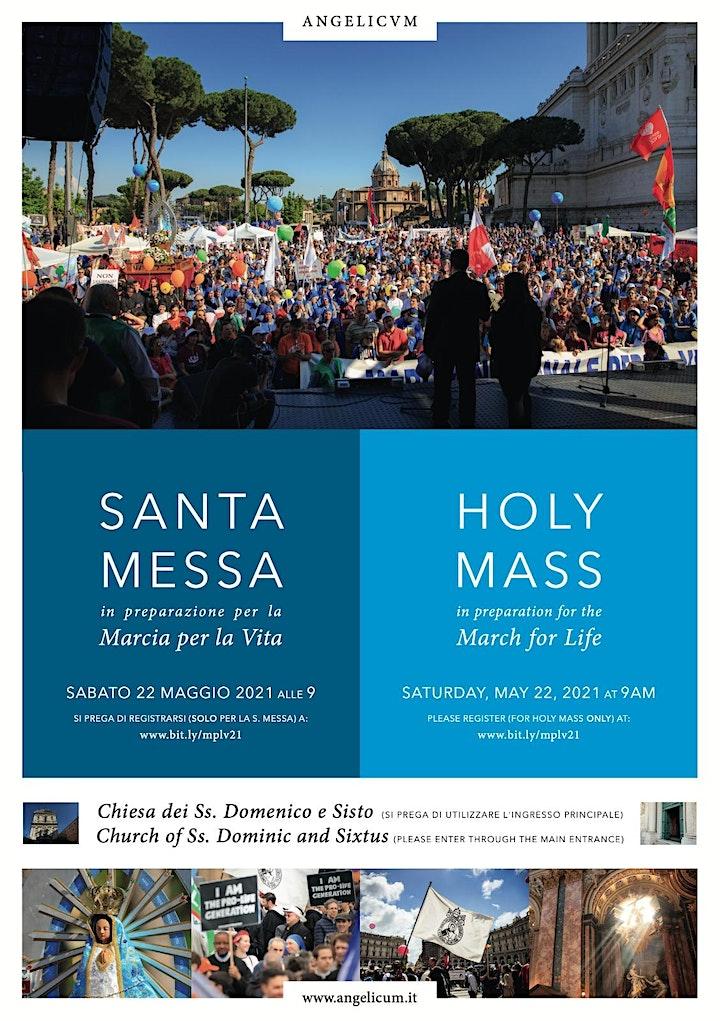 Immagine Santa Messa prima della Marcia per la Vita 2021