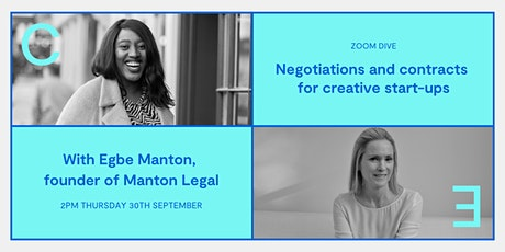 Negotiations and contracts for creative start-ups tickets