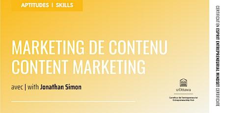 CEE : Marketing de contenu | EMC: Content Marketing biglietti
