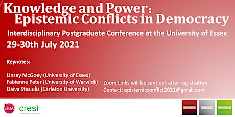 Knowledge and Power:   Epistemic Conflicts in Democracy tickets