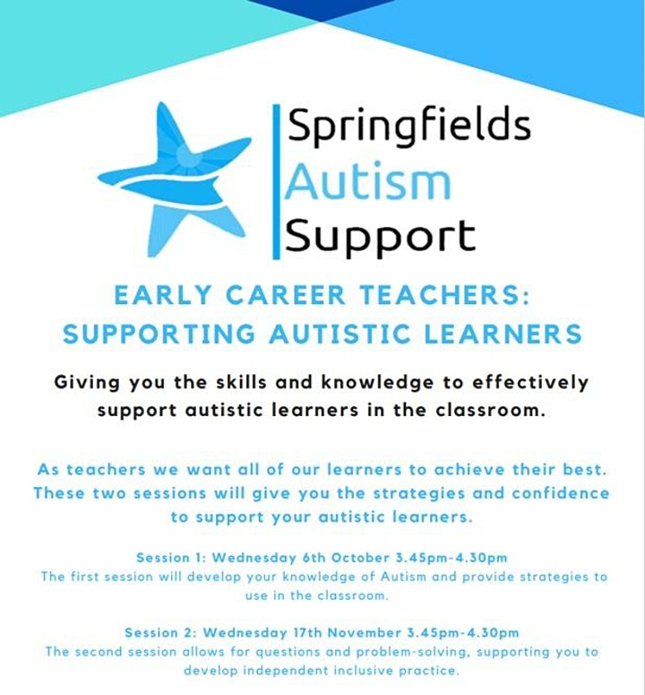 Early Career Teachers: Supporting Autistic Learners image