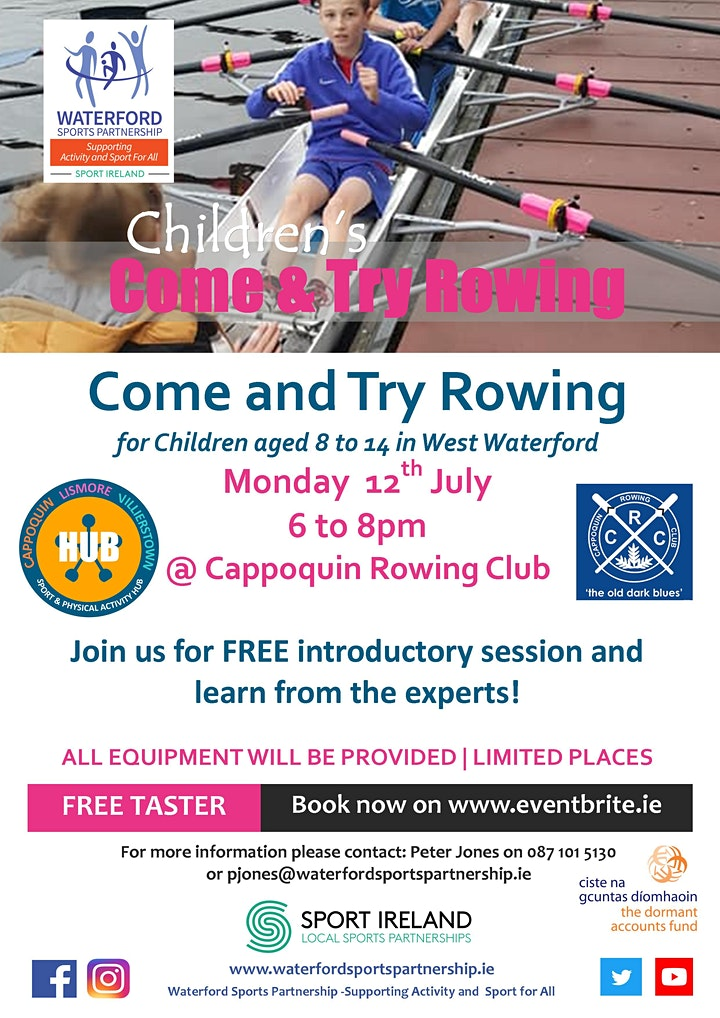 Come & Try Rowing for Children (age 8 - 14) in West Waterford image