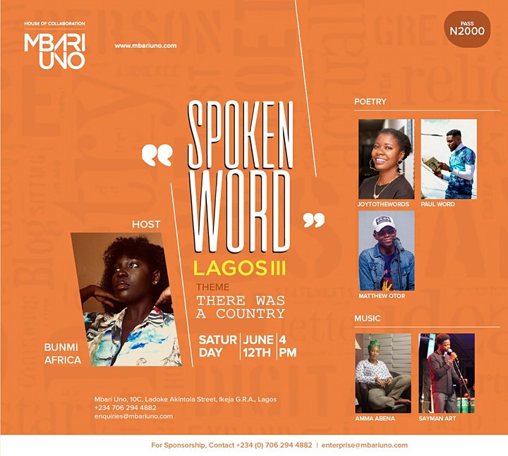 Spoken Word Lagos III- There Was A Country image