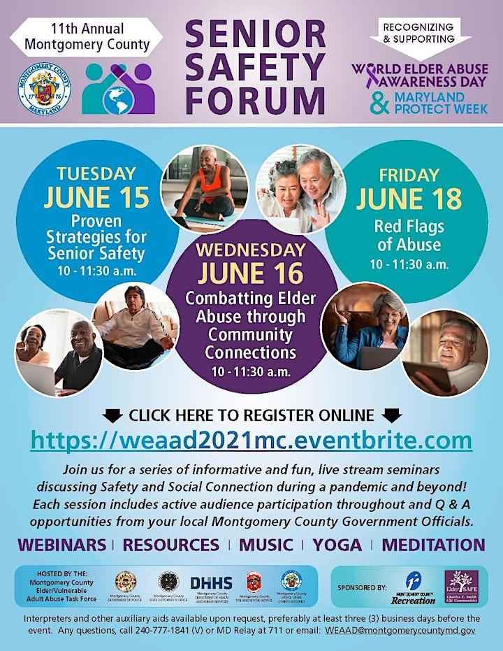 World Elder Abuse Awareness Day (WEAAD) 2021- Senior Safety Forum image