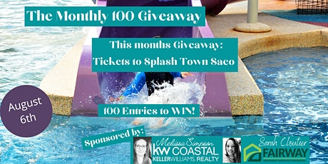 The Monthly 100 Giveaway!  4 Tickets to Fun Town Splash Town! tickets