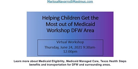 Helping Children Get the Most out of Medicaid Workshop tickets