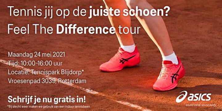 ASICS Feel the DIfference Tennis Tour - 24 mei  - Sportpark Blijdorp image