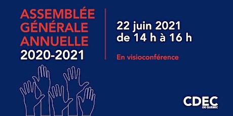Assemblée générale annuelle de la CDEC - 2020-2021 billets