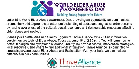 Thrive Alliance Elder Abuse Awareness Presentation tickets