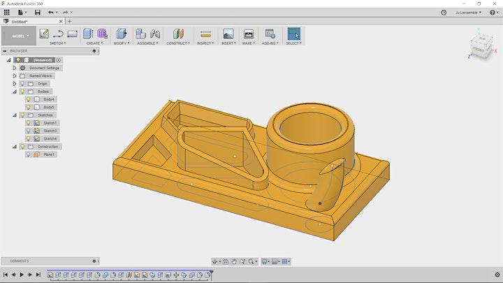 Dessin 2D/3D pour la fabrication numérique (Fusion 360) - initiation image