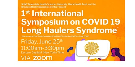 1st International Symposium on COVID-19 Long Haulers Syndrome tickets