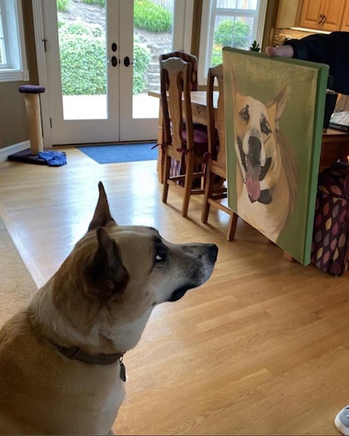 Pet Portrait Paint Class @ Methven Family vineyards Estate in Dayton OR image