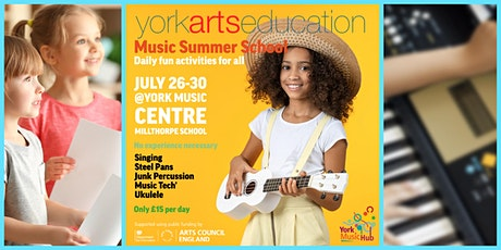 Music Summer School - Daily Fun Activities for All - £15 per day tickets