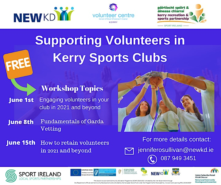Volunteer Supports for Kerry Sports Clubs  in 2021 image