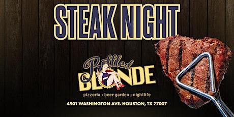 Steak nights At Bottle Blonde tickets