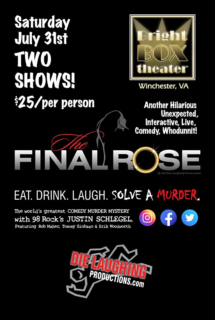 """""""The Final Rose"""" - A Murder Mystery Comedy Show // 7PM SHOW image"""
