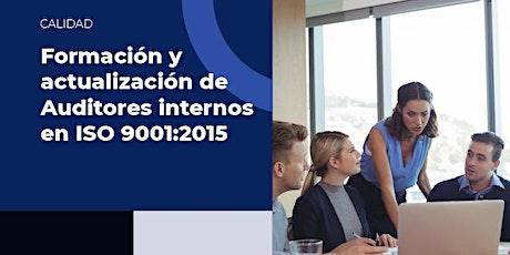 Formación y Actualización de Auditores Internos en ISO 9001:2015 tickets
