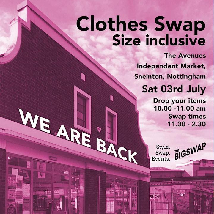 Clothes Swap - Sneinton Market  Saturday July 3rd image