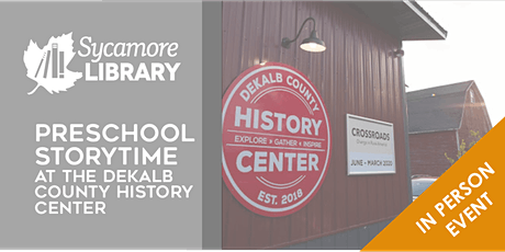 Preschool Storytime at the DeKalb County History Center tickets