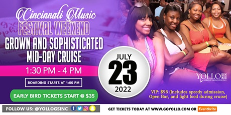 """Grown and Sophisticated """"All White"""" Cruise 2022 Cincinnati Music Festival tickets"""