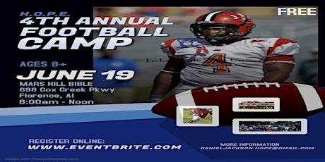 4th Annual H.O.P.E. Football Camp tickets