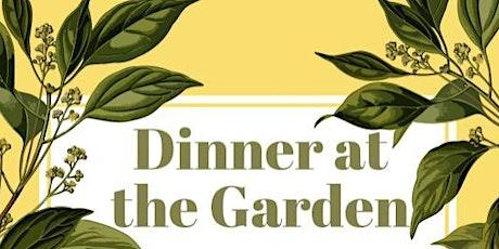 Dinner at The Garden tickets