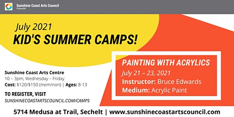 Summer Kid's Art Camp: Painting with Acrylics tickets