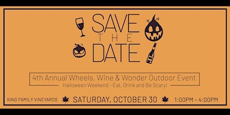 Wheels, Wine and Wonder tickets