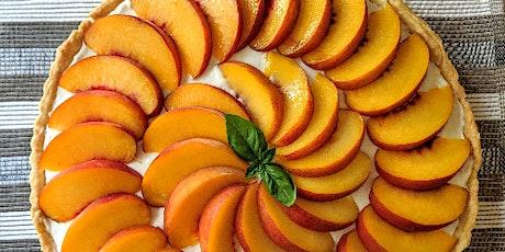 Zoom Cooking Experience: Peach Mascarpone Greek Yogurt Tart Tickets