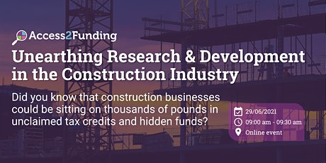 Unearthing Research & Development in the Construction Industry tickets