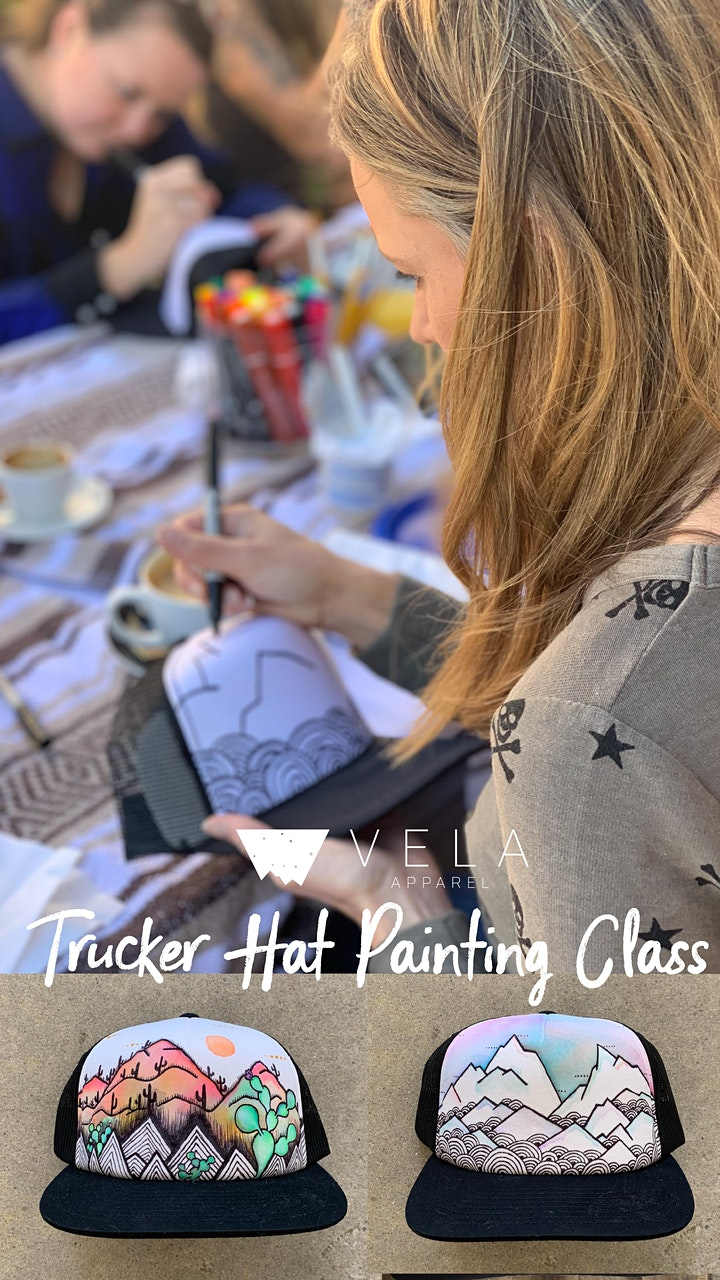 Trucker Hat Painting Class at Mosaic image
