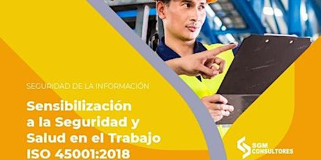 Sensibilización a la Seguridad y Salud en el Trabajo ISO 45001:2018 entradas